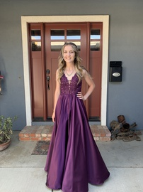 Queenly size 4 Faviana Purple A-line evening gown/formal dress