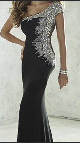 Tiffany Designs Black Size 6 Prom Straight Dress on Queenly