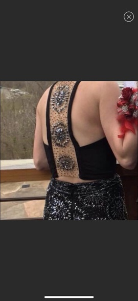 Rachel Allan Black Size 2 Two Piece Straight Dress on Queenly