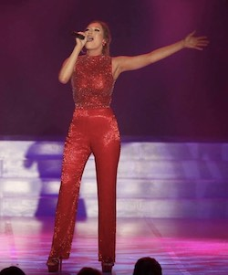 Queenly size 6 Sherri Hill Red Romper/Jumpsuit evening gown/formal dress