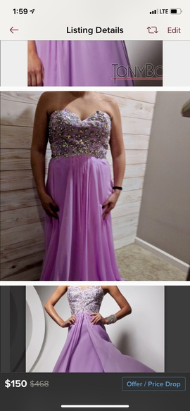 Tony Bowls Pink Size 16 Plus Size Ball gown on Queenly