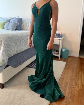 Queenly size 4 Milano Formals Green Train evening gown/formal dress