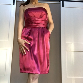 """Queenly size 8 """"b""""""""David's Bridal"""""""""""" Pink Cocktail evening gown/formal dress"""