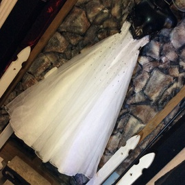 Faviana White Size 14 Ball gown on Queenly