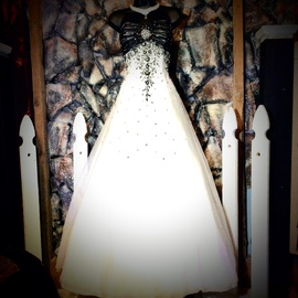 Queenly size 14 Faviana White Ball gown evening gown/formal dress
