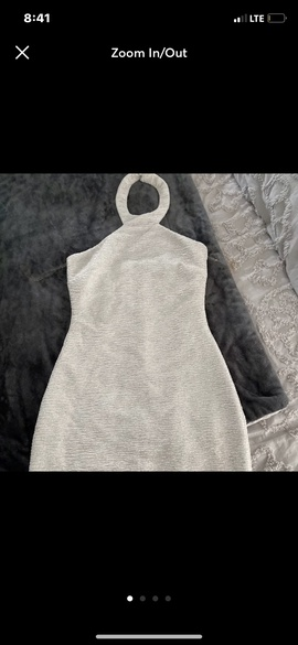 speechless White Size 6 Halter Cocktail Dress on Queenly