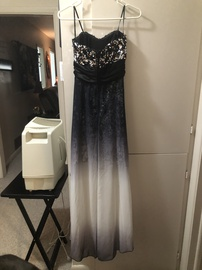 Xtraordinary Silver Size 4 Ombre Straight Dress on Queenly