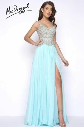 Blue Size 14 Side slit Dress on Queenly