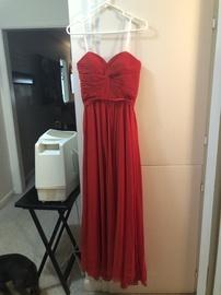 Queenly size 0 Dancing Queen Red Train evening gown/formal dress