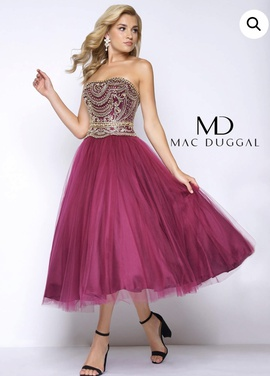 Mac Duggal Pink Size 12 Macduggal Tulle Strapless Plus Size Ball gown on Queenly