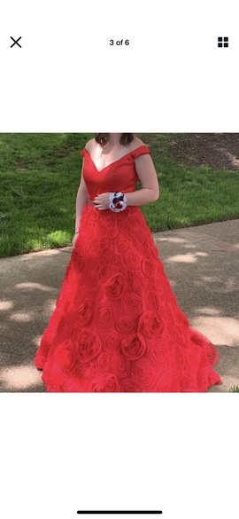 Sherri Hill Red Size 10 Ball gown on Queenly