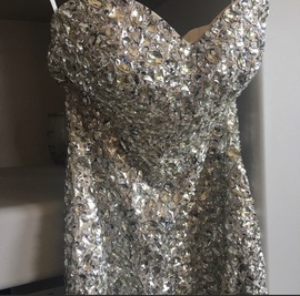 Custom Nude Size 6 Strapless Straight Dress on Queenly