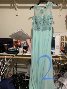 Queenly size 2  Green Straight evening gown/formal dress