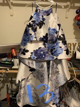 Blue Size 12 Side slit Dress on Queenly