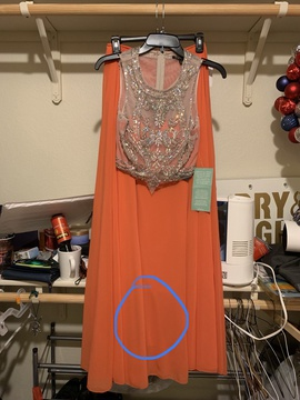 Queenly size 0  Orange Straight evening gown/formal dress