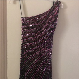 Queenly size 6  Black Straight evening gown/formal dress