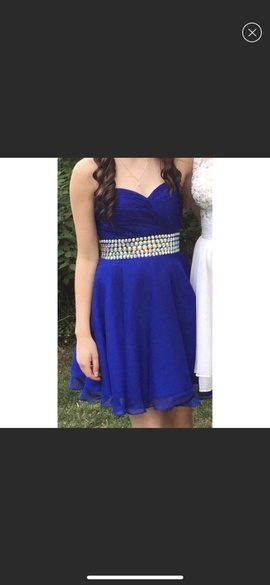 Sherri Hill Blue Size 00 Cocktail Dress on Queenly