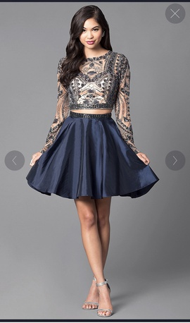Sherri Hill Blue Size 0 Homecoming Ball gown on Queenly