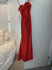 Faviana Red Size 2 Side slit Dress on Queenly