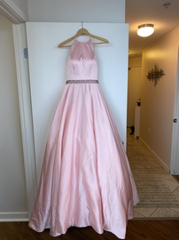 Sherri Hill Pink Size 0 Silk Halter Ball gown on Queenly