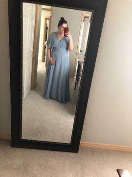 Queenly size 14  Blue Straight evening gown/formal dress