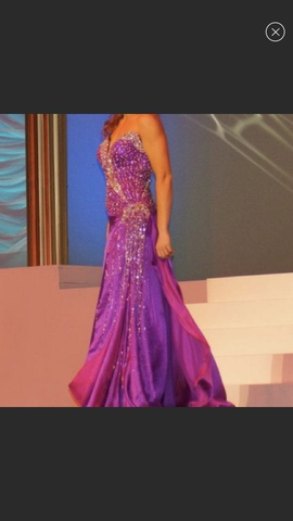 Mac Duggal Purple Size 4 Sweetheart Strapless Side slit Dress on Queenly