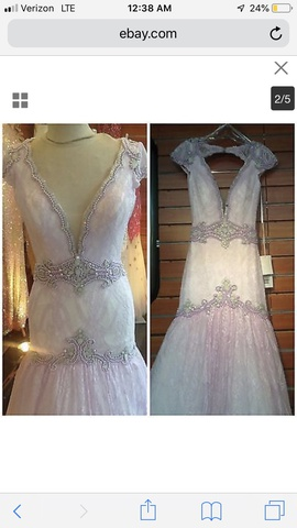 Queenly size 4 Angela & Alison Pink Mermaid evening gown/formal dress
