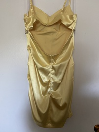 Yellow Size 12 Straight Dress on Queenly
