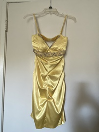 Queenly size 12  Yellow Straight evening gown/formal dress
