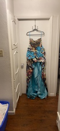 Queenly size 8 Camille La Vie Multicolor Train evening gown/formal dress