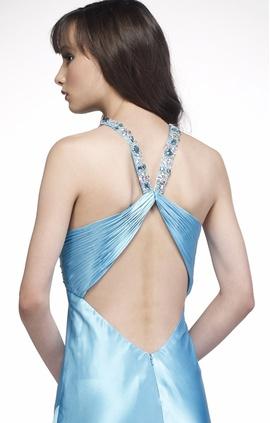 Alyce Paris Light Blue Size 0 Backless Side slit Dress on Queenly
