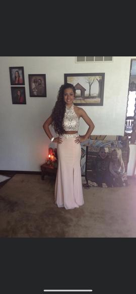 Jovani Pink Size 0 Halter Jewelled Sequin Side slit Dress on Queenly