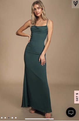 Lulu's Green Size 4 Mermaid Dress on Queenly