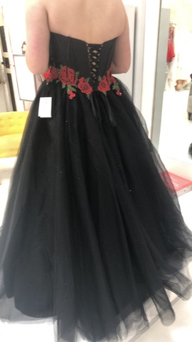 Black Size 12 Ball gown on Queenly