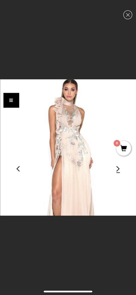 Queenly size 4 Portia and Scarlett Nude Side slit evening gown/formal dress