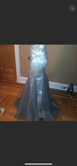 Jovani Silver Size 0 Prom Grey Mermaid Dress on Queenly