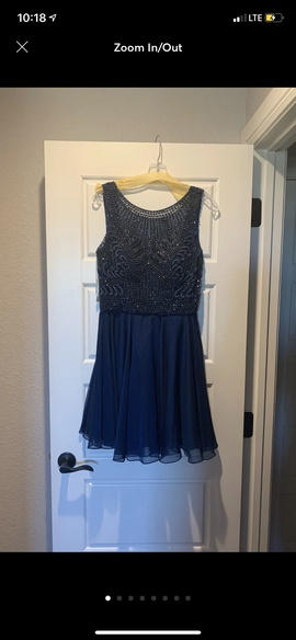 Sherri Hill Blue Size 10 Homecoming Jewelled Sequin Cocktail Dress on Queenly
