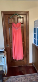 Queenly size 10  Orange Straight evening gown/formal dress