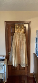 Queenly size 10  Gold A-line evening gown/formal dress
