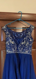 Sherri Hill Blue Size 12 Plus Size A-line Dress on Queenly