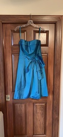 Queenly size 10 Mori Lee Blue A-line evening gown/formal dress