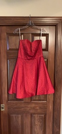 Queenly size 8 Sherri Hill Red A-line evening gown/formal dress