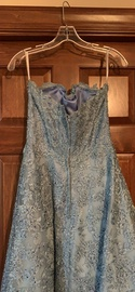 Sherri Hill Blue Size 6 Prom Strapless A-line Dress on Queenly