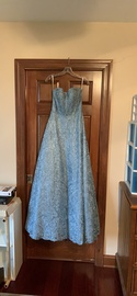 Queenly size 6 Sherri Hill Blue A-line evening gown/formal dress