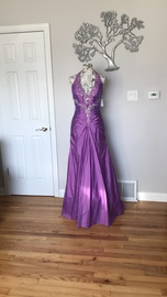 Queenly size 8  Purple Ball gown evening gown/formal dress