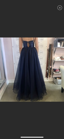 Sherri Hill Blue Size 4 Prom A-line Dress on Queenly
