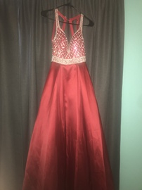 Say Yes to the Prom Red Size 0 Medium Height Ball gown on Queenly