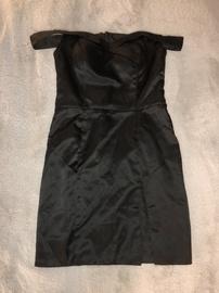 Queenly size 6  Black Side slit evening gown/formal dress