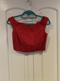 Sherri Hill Red Size 4 Two Piece Medium Height Cocktail Dress on Queenly