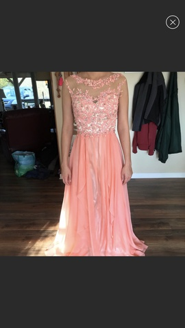 Queenly size 2  Orange Straight evening gown/formal dress